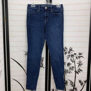 American Eagle Jeggings Jeans Sz 4 Distressed